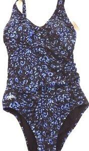 SPEEDO Women's 1 PIECE SWIMSUIT/Swimwear~Black/Blue/Purple~Size~6~NWT