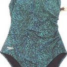SPEEDO Women's 1 PIECE SWIMSUIT/Swimwear~Black & Teal~Size~6~NWT