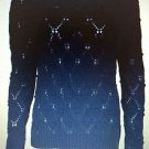 Tommy Hilfiger Women's Master Navy Blue Knitted Crewneck Sweater~Size-M~NWT