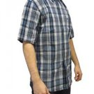 Carhartt Men's Short Sleeved Plaid Button Up Shirt~Sz-M~Blue Plaid~NWT
