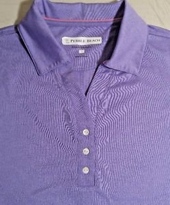 Pebble Beach Women's Polo Golf Short Sleeve Shirt Top~Purple~Sz-M & L~NWT