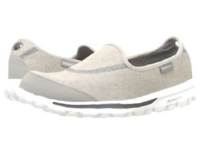 Skechers Women's Go Walk GoGa-Mat Technology Glitz Slip-on Shoes~Sz-9~Gray~NEW