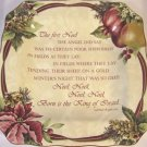 222 Fifth Yuletide Celebration Christmas 4 Plate Set~The first Noel~NEW