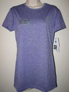 ADIDAS Womens Climalite Athletic Short Sleeve Crew Top T-Shirt~Purple~Sz-S,L~NWT