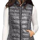 32 Degrees Heat Women's Packable Down Vest~Black Space Dye~Sz-XL~NEW