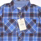 Weatherproof Vintage Boy's Plaid Flannel Shirt~Long Sleeve~Blue~Sizes~XS, S, L