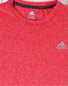Adidas Men's Clima Tech Climalite Short Sleeve Crew Tee Shirt~RED~Sz-M & L~NWT