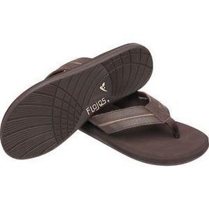FLOJOS Men's Ryder  Sandals Slides Thong Flip Flops~Brown~Size-8~NWT