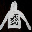 Volcom~White Pullover ~Hoodies/Sweatshirt~Size S & M (10,12)~Unisex~NWT~MSRP-$45