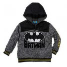 BATMAN DC Comics Superhero Sherpa Lined Zip Hoodie Jacket~Sz-6~NWT