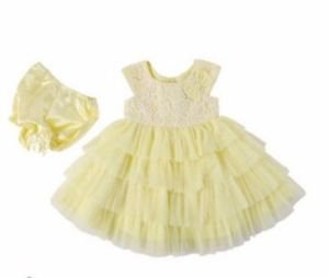 JONA MICHELLE Baby Girl's Boutique Lace Dress~Yellow~Sz-6mo-24mo/2t~NWT