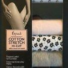 Felina Women 6 Pack Cotton Stretch Hi-Cut Bikini Panties Underwear