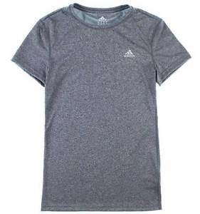 ADIDAS Womens Climalite Athletic Short Sleeve Crew Top T-Shirt~Gray~Sz-M & L~NWT
