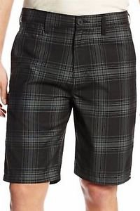 Quiksilver Men's Casual/Dress Walk Shorts~Black Plaid~Sz-32~NWT~ret-$49.50