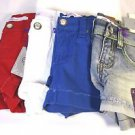 Vigoss Jean Girl's Shorty Shorts~Bling~Red/White/Blue/Denim~Sz-5,7,8,10 & 12~NWT