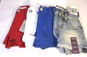 Vigoss Jean Girl's Shorty Shorts~Bling~Red/White/Blue/Denim~Sz-5,7,8,10 & 12~NWT