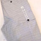Calvin Klein Men's Cargo Striped Cotton Casual Shorts~White Blue~Sz-30~NWT
