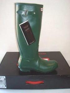 Hunter Ladies Tall Rain Boots Weatherproof Rubber~Green~Sz-6~NIB