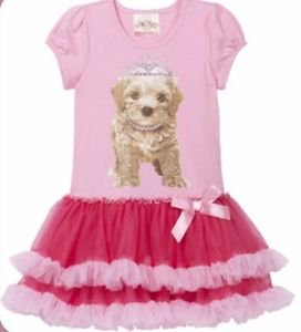 Beautees Girl's Boutique TuTu Dress~PINK PRINCESS PUPPY~Size-3t~NWT