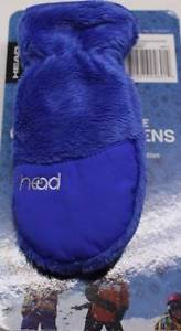 Head Toddlers ThermalFur Fleece Winter Gloves / Mittens~BLUE~Ages XS 3-4~NWT