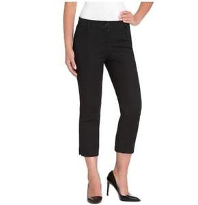 Hilary Radley Women's Stretch Cropped Slim Leg Capri Dress Pants~Black~Sz-14~NWT