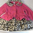 MACK & CO Girl's Hot Pink with Leopard Print~COAT/JACKET~Sz-5~NWT