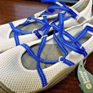 Jeep J-41 Women Vegan Barefoot Design Water Shoes~White/Blue~Sz-10~ret.$89