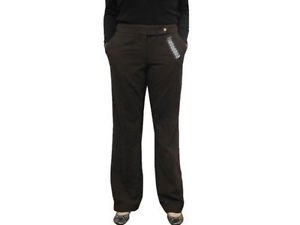 Calvin Klein Women's Classic Fit Lined Pants~Heather Brown~Size-4/33~NWT