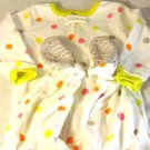 Carter's Girls Baby Toddler Footed Fleece Pajamas/Sleeper~Dots~Sz- 2T~NEW