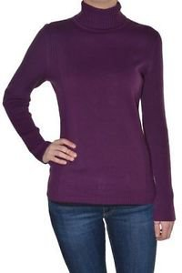 Leo & Nicole Ladies Turtleneck Ribbed Sweater~Vino Purple~Sz-M, XL, 2XL~NWT