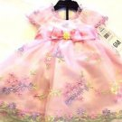 Jona Michelle Girls Pink Floral Boutique Dress w/Diaper Cover~Sz-6mo~NWT