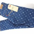 Levis Girl's Knit Denim Legging Adjustable Waist Jean Pants Diamonds Size-14
