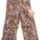 LEE Girls Toddler Stretch Jean Pants~GrayPink~Stars~Sz-18mo & 3t~NWT~ret-$45.