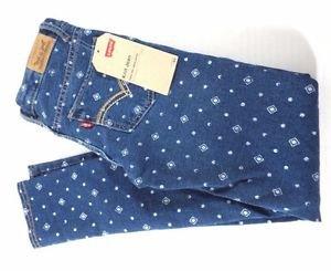 Levis Girl's Knit Denim Legging Adjustable Waist Jean Pants Diamonds Sz-12