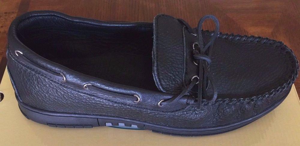 Old Friend Footwear Men's Leather Loafer Moccasin Shoe~BLACK~Sz-8 & 8.5~ret-$99.