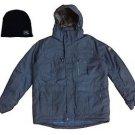 Zeroxposur Mens Ski Snowboard Hooded Jacket Coat w/Beanie~BLUE~Sz-L~NWT~ret-$200