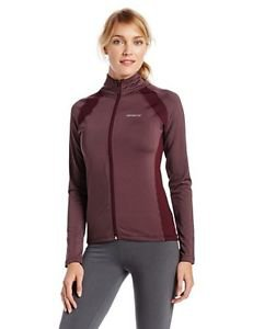 Seven7 Women's Athletic Knit Mock Neck Zip Stretch Jacket~Maroon~NWT~ret $59.