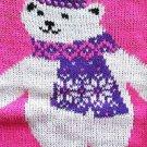 Kobe Kids Girl's Toddler Polar Bear Winter Sweater~PINK~Sz-5T~MSRP~$21.99