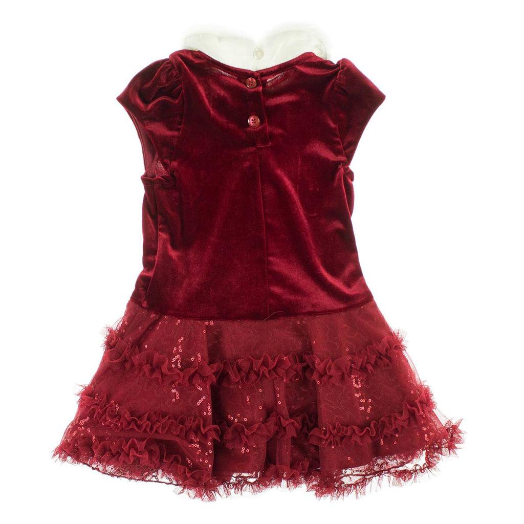 Jona Michelle Girls Boutique Holiday Christmas Party Red Dress~Size-18 mo~NEW