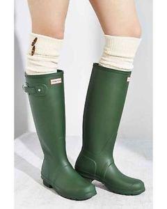Hunter Ladies Tall Rain Boots Weatherproof Rubber~Hunter Green~Size-6~NIB