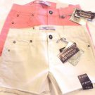 Vigoss Jeans Girl's Shorts~Adjustable Waistband~Pink or White~NWT