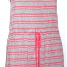 Olive & Oak Women's Summer Sun Dress~Coral/Gray Striped~Sz-Sm & L~NWT~ret-$50