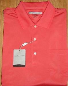 Greg Norman Performance Golf Polo Shirt~Play Dry~Persimmon~M, L, XL, XXL~NWT
