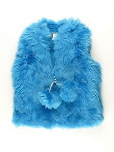 American Widgeon Girl's Boutique Faux Fur VEST~Blue~Sz-3t & 4t~NWT~ MSRP $60
