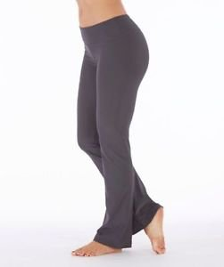 Bally Total Fitness Women's Low Rise Wicking Yoga Pant~Gray~Sz-S~NWT