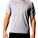 Adidas® Men's S/S Climacore Climalite Althletic Mesh T Shirt~Gray~Sz-XL~NWT