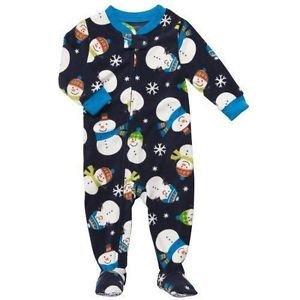 Carter's Boys Baby Toddler Footed Fleece Pajamas/Sleeper~Snowman~Sz-6 mo,3T & 4T