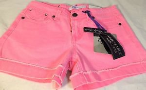 Vigoss Jean Girl's Shorty Shorts~Bling~PINK~Adjustable Waist~Sz-5/6/10/12~NWT