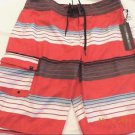 O'NEILL Men's Santa Cruz Red Stripe Board Shorts Swim Trunks~Sz-34~ret-$38.~NWT