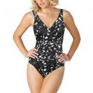 Kirkland Signature by Miraclesuit 1 Pc Swimsuit/Swimwear~10~Blk/Gray/White~NWT